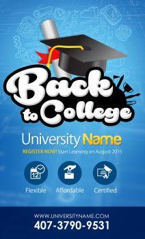 Back to College Poster by jayicesight