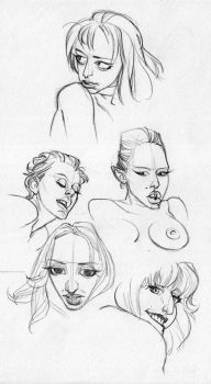 Face Studies by pietro-ant