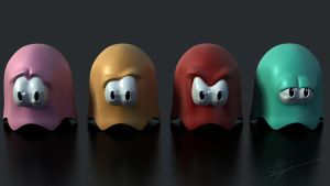 Pacman ghosts by Zairaam