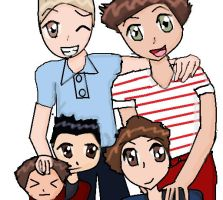 One Direction Anime by PrincessCosmo