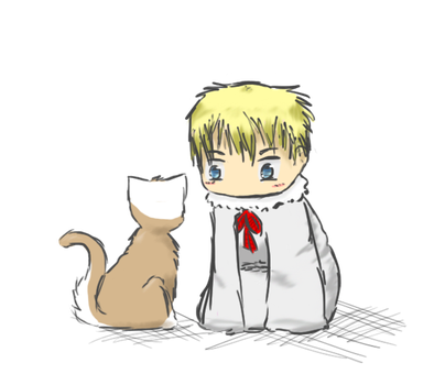 Baby Sweden and Neko!Finland by CharcoalOwl