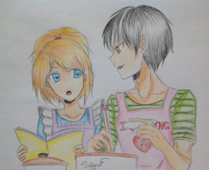 Cypress and Julian Cooking by oOCypressOo