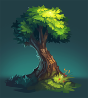 Tree speedpaint by Frayde