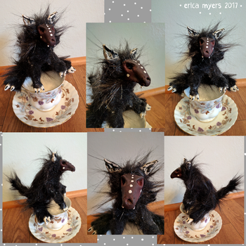 Teacup Hellhound OOAK by pucapup