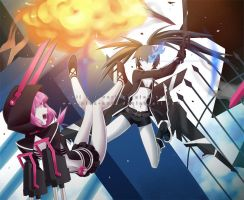 Blue vs Pink by pink-hudy