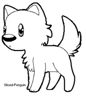 FREE Chibi wolf lineart (READ RULES IF USING) by Sliced-Penguin