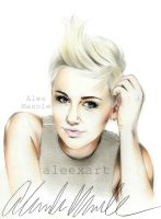 Miley Cyrus (mileycyrus.com) photoshoot by aleexart