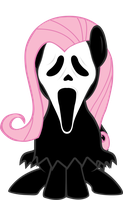 Flutter Shy Ghost Face by LcPsycho