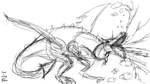 06 14 2012 Quicky Dragon Drawing with Camtasia by LineDetail