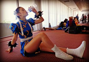 Chun Li Taking a Break by too-school-for-cool