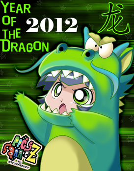 Dragon Girl Buttercup- Happy 2012 by BiPinkBunny
