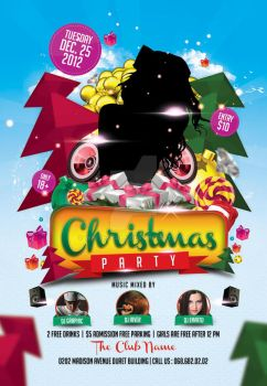 Christmas Party Flyer Template by whitescale