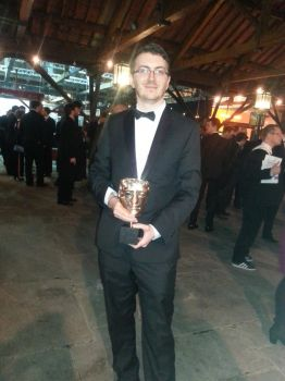 Me and the BAFTA we won! by Eaglelives