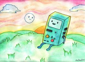 BMO and Bubble by owlmaddie