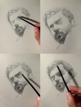 Charcoal practice Process by SILENTJUSTICE