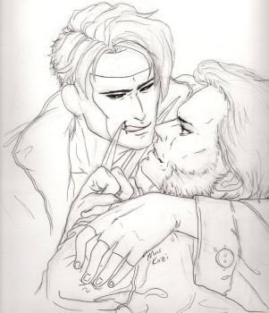 Gambit and Wolverine by MuusKazi