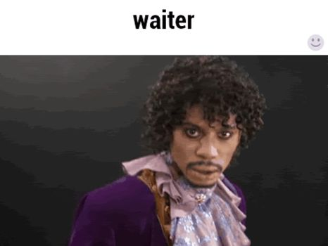 If prince worked as a waiter by F8EDM