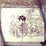 #32 My best imaginary friends by 365-DaysOfDoodles
