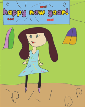 Happy New Year from me and Pen by Nerdy-Hamster