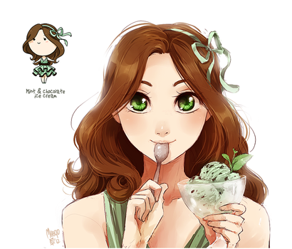 mint and chocolate ice cream by meago