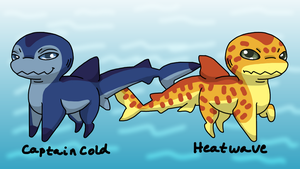 Captain Cold and Heatwave Sharkpups by wachey