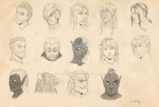 Neverwinter online Characters by FaerieTear