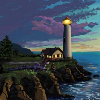 Dragon lighthouse by NetRaptor