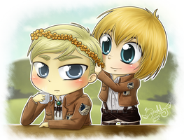 Erwin x Armin - My beautiful princess by Isi-Daddy