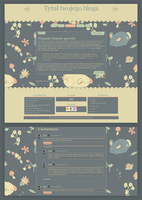 Blogspot template Bunny by stupid-owl