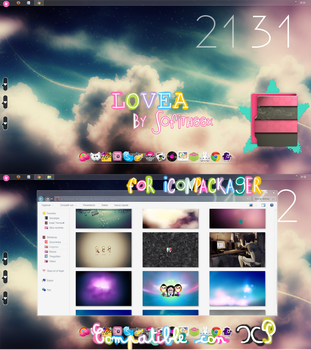 Theme inconpackager LOVEA by Sofithaax by SofithaaxTutoriales