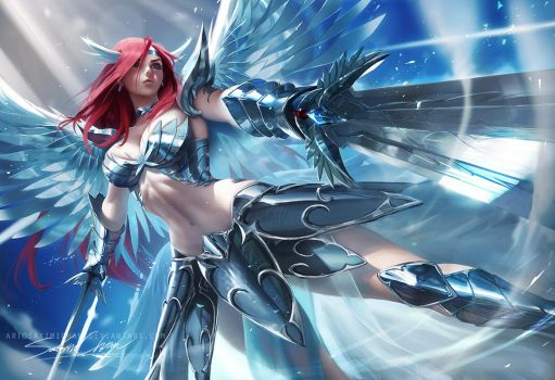 Erza Heaven's wheel armor by sakimichan