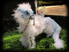 SOLD Nix the baby snow guide dragon! by CreaturesofNat