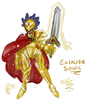 Human Excalibur Sonic Sketch by SimonSoys