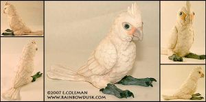 Goffins Cockatoo by emilySculpts