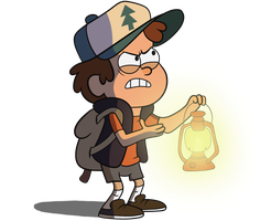 Dipper with a lantern by MF99K