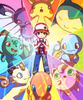 Pokemon Rainbow by GreenMangos
