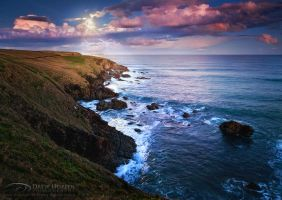 Pacific Moonrise by DrewHopper