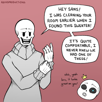 Undertale - Dad's Sweater by AquasProductions