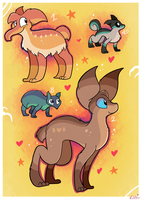 FREE Valentines day adoptables CLOSED by Pettablez