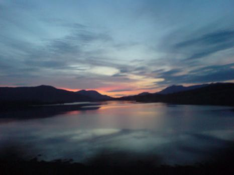 Lough Inagh Sunset by KuchikiRukia