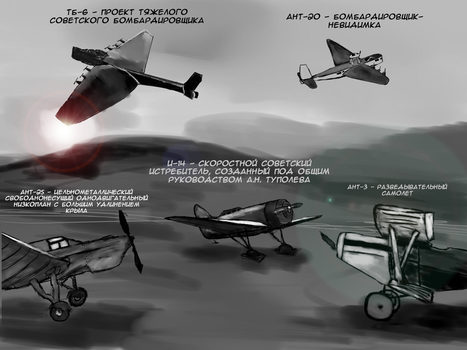 Tupolev' planes by AthleteGrizzle