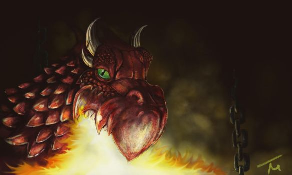 Red Dragon by TM by Terry-Mosier