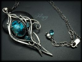 Melody-Turquoise Necklace by FILIGRY