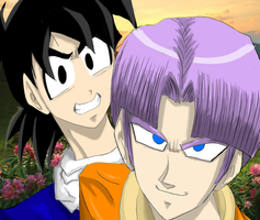 Goten and Trunks by RayDesanto