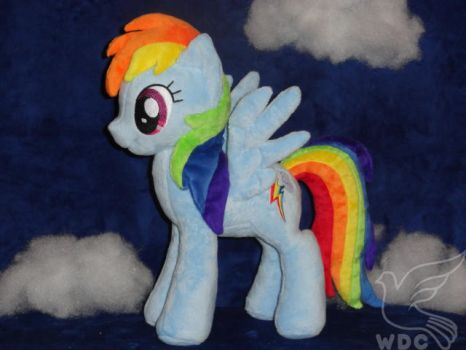 Rainbow Dash has Her Head in the Clouds by WhiteDove-Creations