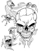 Skulls and tribals by No102