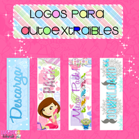 Logos autoextrables~By:Lucesita by LucesitaEditions