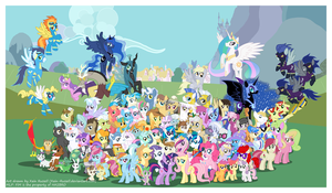 Friendship is Magic Cast Poster V.2 by Xain-Russell