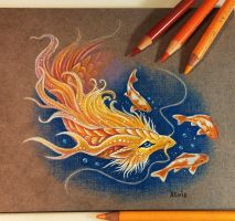 Golden koi dragon by AlviaAlcedo