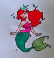 Ariel, Triton's youngest daughter by happyeverafter